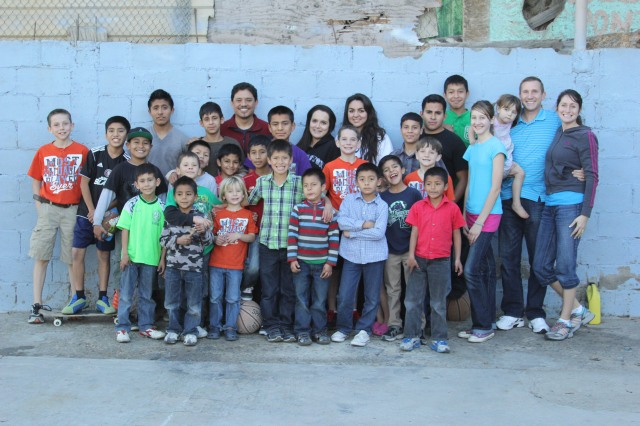 Luis and all the children that live here. The girls are his older daughters.