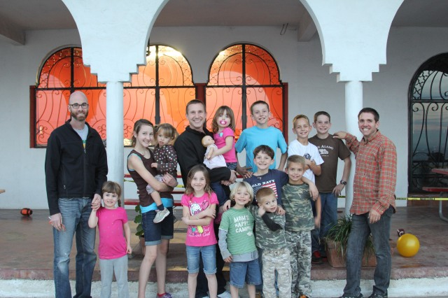 Our new friends that are missionaries here in Tijuana. So much boy power!!! ;)