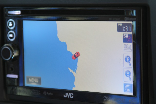 GPS wasn't sure where we were!